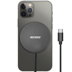Accezz Chargeur sans fil USB-C to MagSafe - 15W - Gris