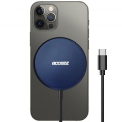Accezz Chargeur sans fil USB-C to MagSafe - 15W - Bleu