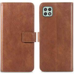 iMoshion Étui de téléphone portefeuille Luxe Galaxy A22 (5G) - Brun