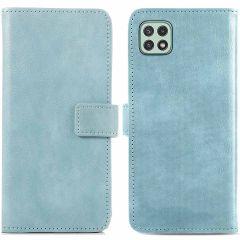 iMoshion Étui de téléphone portefeuille Luxe Galaxy A22 (5G) - Bleu
