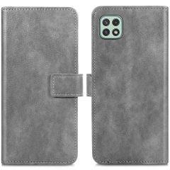 iMoshion Étui de téléphone portefeuille Luxe Galaxy A22 (5G) - Gris