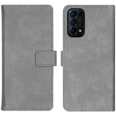 iMoshion Étui de téléphone portefeuille Luxe Oppo Find X3 Lite - Gris
