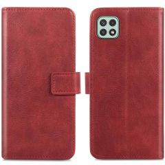 iMoshion Étui de téléphone portefeuille Luxe Galaxy A22 (5G) - Rouge