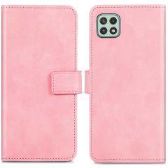 iMoshion Étui de téléphone portefeuille Luxe Galaxy A22 (5G) - Rose