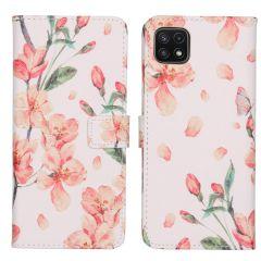 iMoshion Coque silicone design Galaxy A22 (5G) - Blossom White