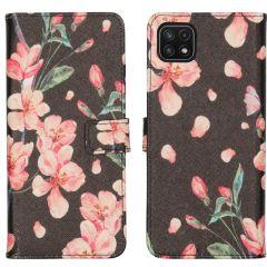 iMoshion Coque silicone design Galaxy A22 (5G) - Blossom Black