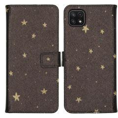 iMoshion Coque silicone design Galaxy A22 (5G) - Stars Gold