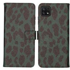 iMoshion Coque silicone design Galaxy A22 (5G) - Green Leopard