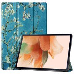iMoshion Étui à rabat Design Trifold Galaxy Tab S7 Plus / Tab S7 FE 5G - Green Plant