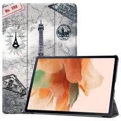 iMoshion Étui à rabat Design Trifold Galaxy Tab S7 Plus / Tab S7 FE 5G - Paris