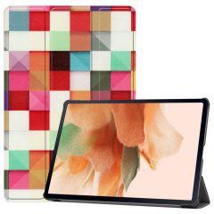 iMoshion Étui à rabat Design Trifold Galaxy Tab S7 Plus / Tab S7 FE 5G - Colors