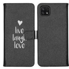 iMoshion Coque silicone design Galaxy A22 (5G) - Live Laugh Love