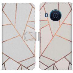 iMoshion Coque silicone design Nokia X10 / X20 - White Graphic