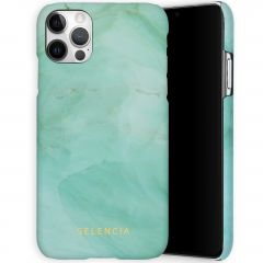 Selencia Coque Maya Fashion iPhone 12 (Pro) - Marble Green