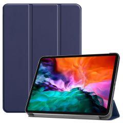 iMoshion Étui de tablette Trifold iPad Pro 12.9 (2021) - Bleu foncé