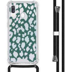 iMoshion Coque Design avec cordon Samsung Galaxy A40 - Léopard - Vert