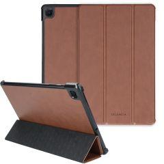 Selencia Coque en cuir vegan Nuria Trifold Book Galaxy Tab S6 Lite