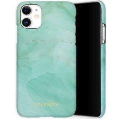 Selencia Coque Maya Fashion iPhone 11 - Marble Green