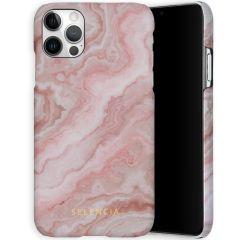 Selencia Coque Maya Fashion iPhone 12 (Pro) - Marble Rose
