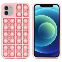 iMoshion Pop It Fidget Toy - Coque Pop It iPhone 12 (Pro) - Rose