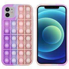 iMoshion Pop It Fidget Toy - Coque Pop It iPhone 12 (Pro)-Multicolor