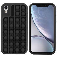 iMoshion Pop It Fidget Toy - Coque Pop It iPhone Xr - Noir