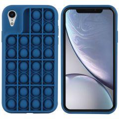 iMoshion Pop It Fidget Toy - Coque Pop It iPhone Xr - Bleu foncé