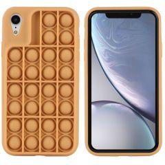 iMoshion Pop It Fidget Toy - Coque Pop It iPhone Xr - Dorée