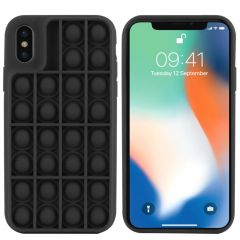 iMoshion Pop It Fidget Toy - Coque Pop It iPhone Xs / X - Noir