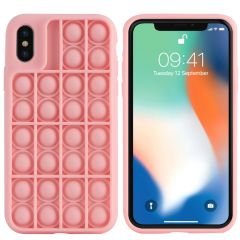 iMoshion Pop It Fidget Toy - Coque Pop It iPhone Xs / X - Rose