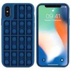 iMoshion Pop It Fidget Toy - Coque Pop It iPhone Xs / X - Bleu foncé