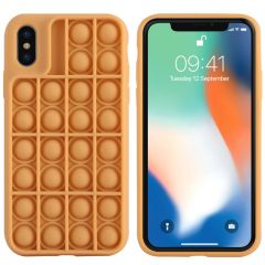 iMoshion Pop It Fidget Toy - Coque Pop It iPhone Xs / X - Dorée