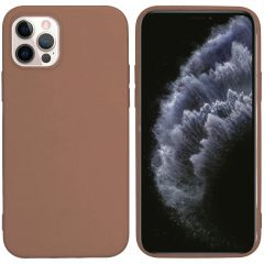 iMoshion Coque Color iPhone 12 (Pro) - Taupe