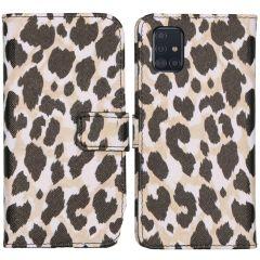 iMoshion Coque silicone design Galaxy A51 - Golden Leopard