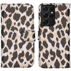 iMoshion Coque silicone design Galaxy S21 Ultra - Golden Leopard