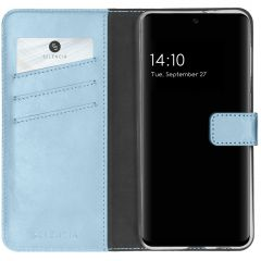 Selencia Étui de téléphone en cuir véritable A32 (5G) - Bleu clair
