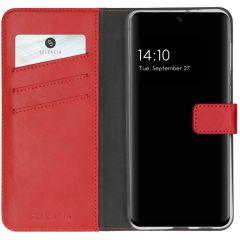 Selencia Echtleder Booktype Hülle Samsung Galaxy A32 (5G) - Rot