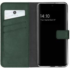 Selencia Étui de téléphone en cuir véritable A32 (5G) - Vert