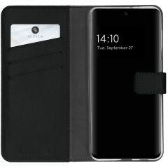Selencia Étui de téléphone en cuir véritable Galaxy A32 (4G) - Noir
