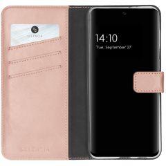 Selencia Étui de téléphone en cuir véritable Galaxy A32 (4G) - Rose