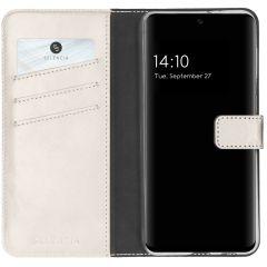 Selencia Étui de téléphone en cuir véritable Galaxy A32 (4G) - Gris