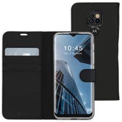 Accezz Étui de téléphone Wallet Motorola Moto E7 Plus / G9 Play - Noir