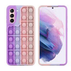 iMoshion Pop It Fidget Toy - Coque Pop It Galaxy S21 - Multicolor
