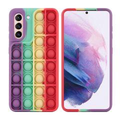 iMoshion Pop It Fidget Toy - Coque Pop It Galaxy S21 - Rainbow