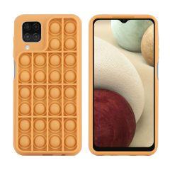 iMoshion Pop It Fidget Toy - Coque Pop It Samsung Galaxy A12 - Dorée