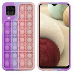 iMoshion Pop It Fidget Toy - Coque Pop It Galaxy A12 - Multicolor