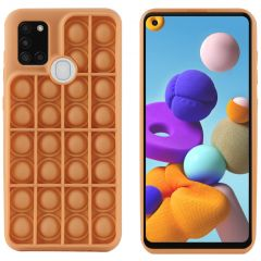 iMoshion Pop It Fidget Toy - Coque Pop It Galaxy A21s - Dorée