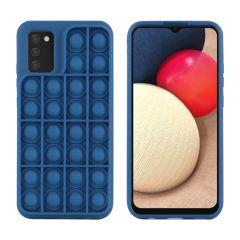 iMoshion Pop It Fidget Toy - Coque Pop It Galaxy A02s - Bleu foncé