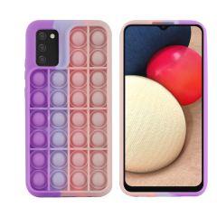 iMoshion Pop It Fidget Toy - Coque Pop It Galaxy A02s - Multicolor