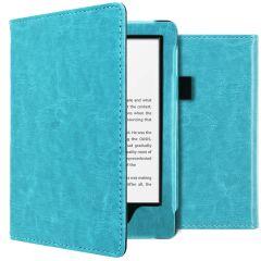 iMoshion Étui de liseuse en cuir végan Amazon Kindle 10 - Bleu